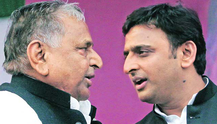 Mulayam and Akhilesh sound contradictory on govt formation in UP