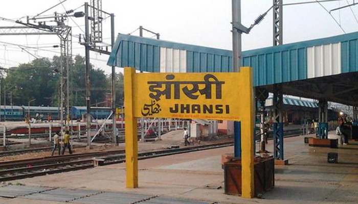 Aggrieved rail employees protest in Jhansi rail control room