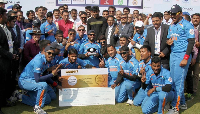India defeats arch-rival Pakistan to win World T20 for Blind