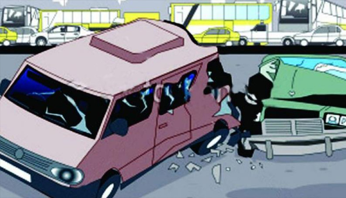 School bus rammed into car in Mathura, one killed