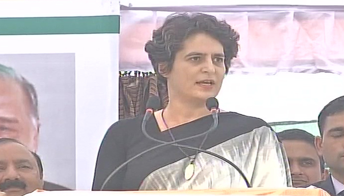 Priyanka jibes at Modi; says does UP need an outsider for development?