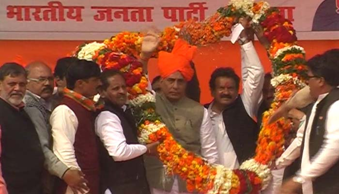 Even opponents cant level corruption charges against BJP: Rajnath