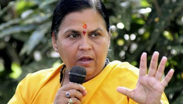 Salt and chillies should be scrubbed at rapists until they scream, says Uma Bharti