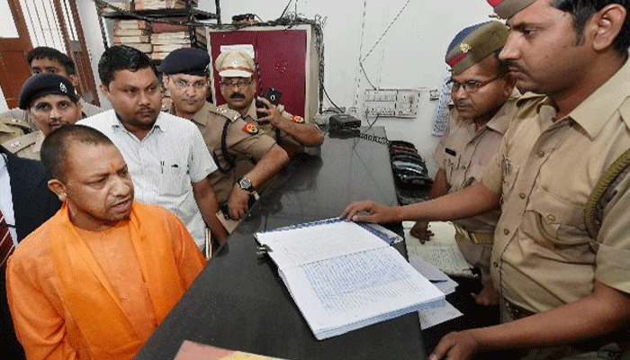 Over 100 policemen suspended in five days of Yogi government in UP
