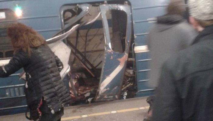 Twin blasts at metro stations in St. Petersburg; 10 killed, over 50 injured