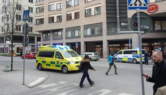 Terror Attack: Truck rams into Stockholm store; 3 dead, many injured