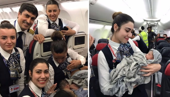 Amazing: Baby delivered at an altitude of 42,000 feet