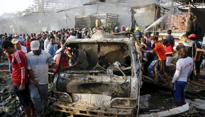 Suicide bomb attack in Baghdad   13 killed, 30 wounded