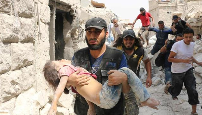 11 killed including four children in Syria bombings