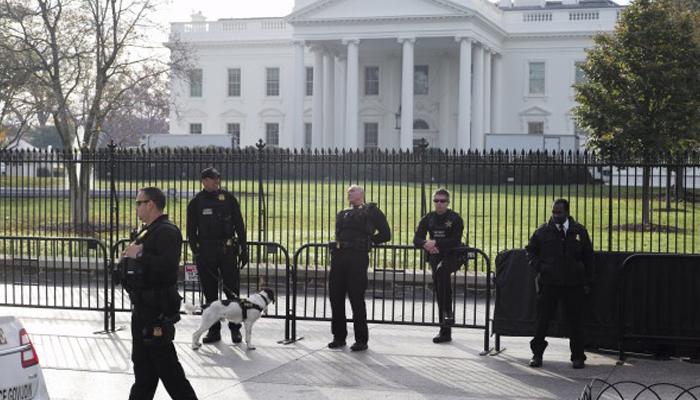 White House on lockdown after intruder jumped fence