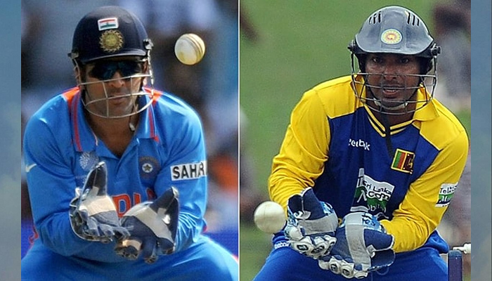 Will Dhoni claim place in record books breaking Sangakkara's record?