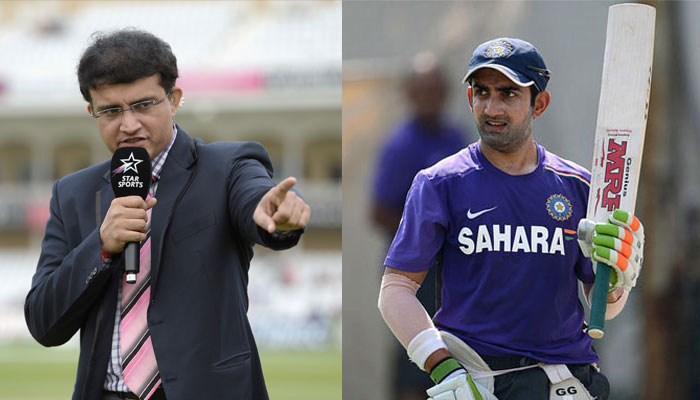 Ganguly wants Gambhir in Indian team for ICC Champions Trophy