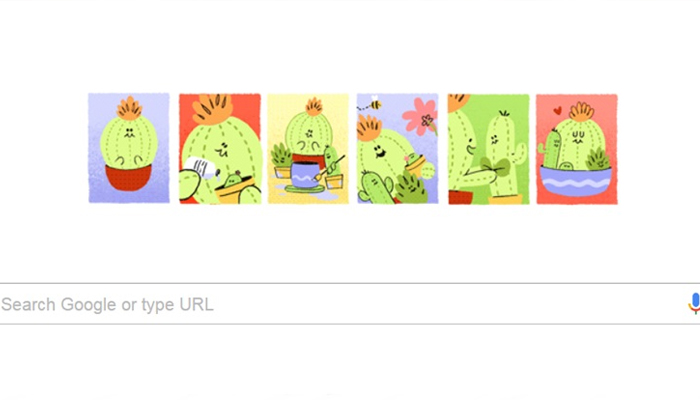 Google celebrates Mother's Day with cactus doodle