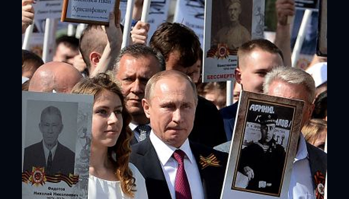 Putin calls for international unity on Victory Day