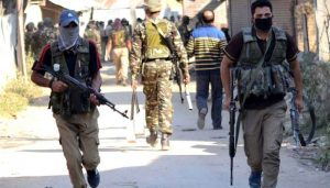 Security forces bust Hizbul module in Handwara, arrest four