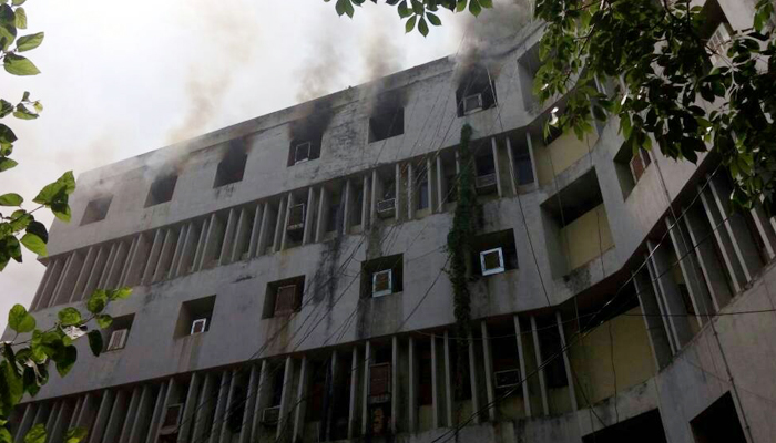 Fire breaks out at fifth floor of Sales Tax office in Lucknow