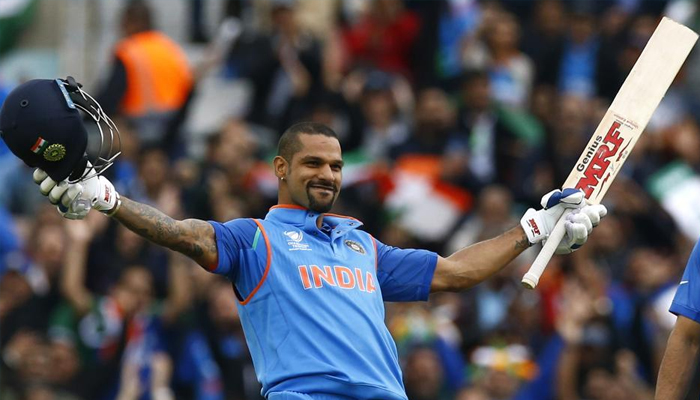 Dhawans record-breaking date with ICC Champions Trophy
