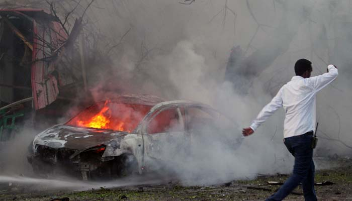At least 20 killed as car bomb targets Afghan bank