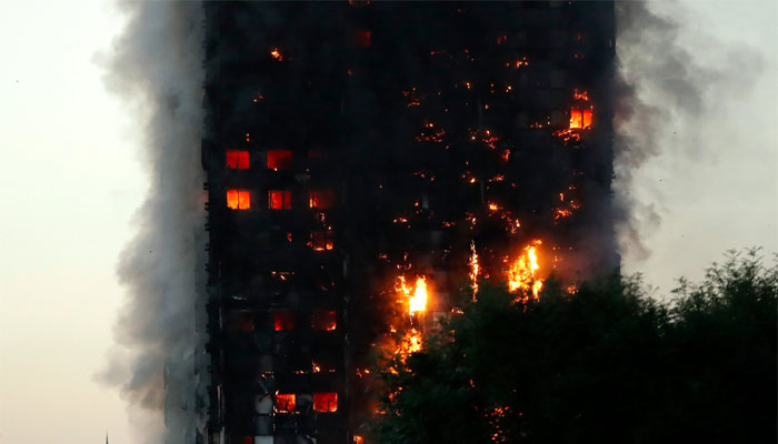 Massive fire breaks out in London Grenfell Tower, many killed