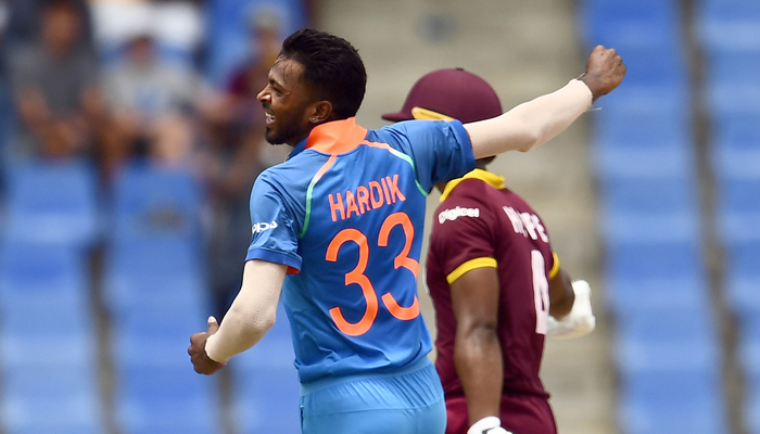 4th ODI: Pandya, Umesh help India contain West Indies to 189/9