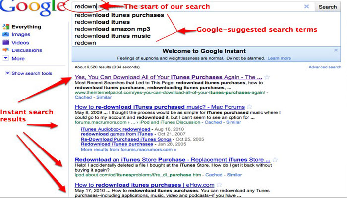 Search engine Google removes instant search feature