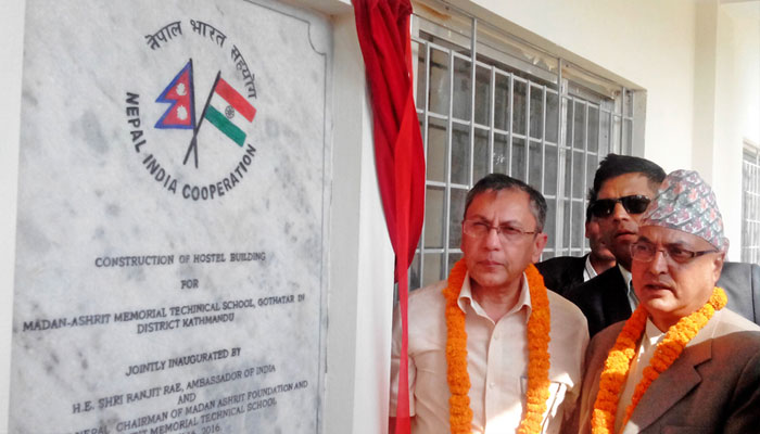 New school building funded by India inaugurated in Nepal
