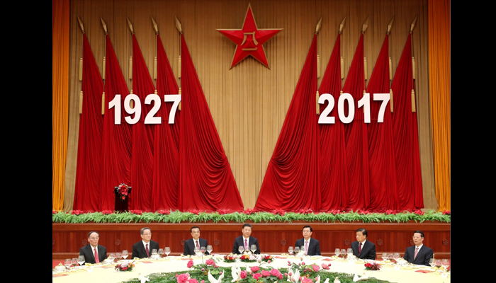 China marks Peoples Liberation Armys 90th anniversary