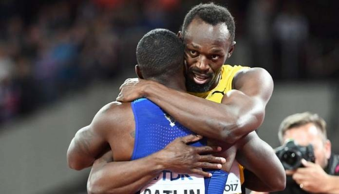 Usain Bolt loses to Justin Gatlin in farewell 100m title race