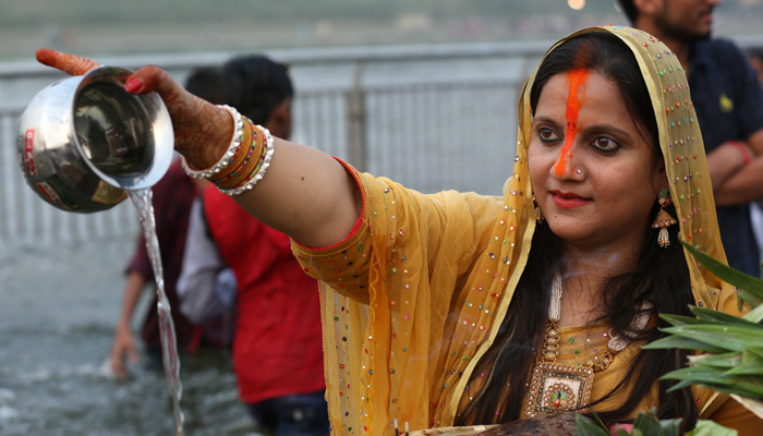 Lucknow celebrates Chhath Pooja | Check mesmerising pictures
