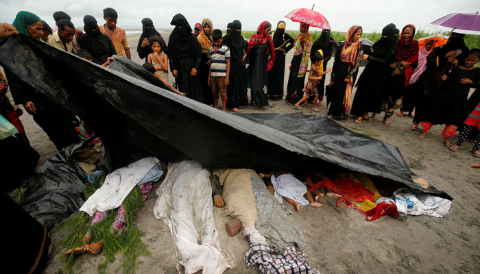 Boat carrying Rohingya people capsizes off Bangladesh, five dead