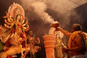 Durga Puja Carnival a 'mockery of democracy': Bengal BJP