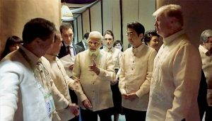 Prime Minister Narendra Modi interacts with world leaders in Philippines