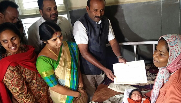 First baby girl born in 2018 in Bengaluru to get free education