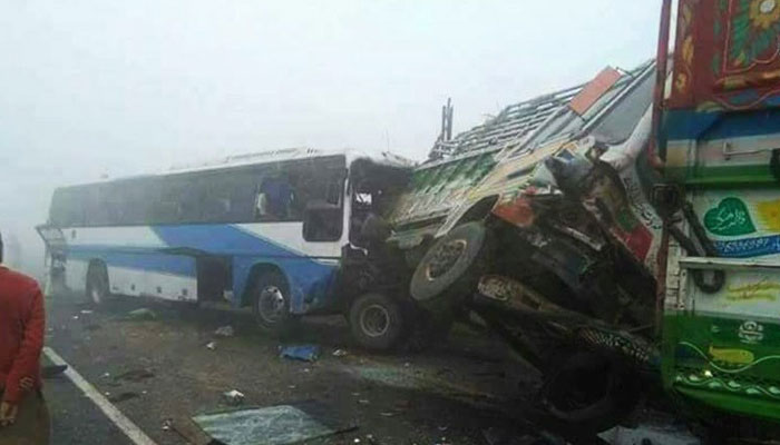 Dense fog in UP causes bus-truck collision, 36 injured