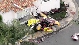 Three dead after chopper crashes into California house