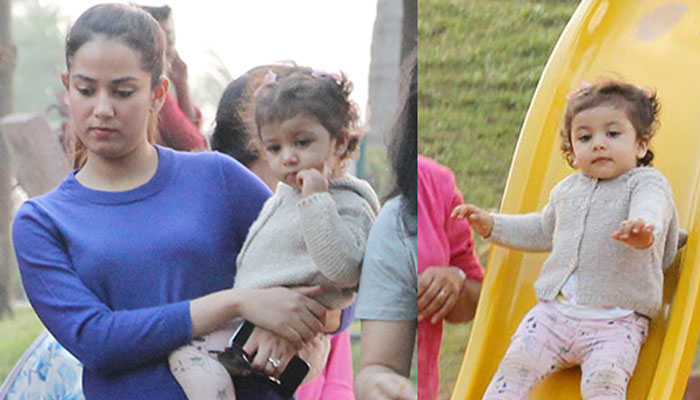 These pictures of Shahids lil munchkin Misha are super cute...!