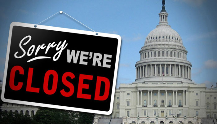 US government shuts down, over 1000 sent on unpaid leave