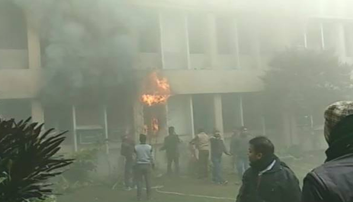 Fire breaks out at UPs Baba Raghav Das Medical College