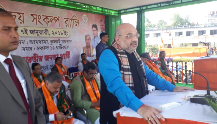 BJP will form government in Tripura, says confident Amit Shah