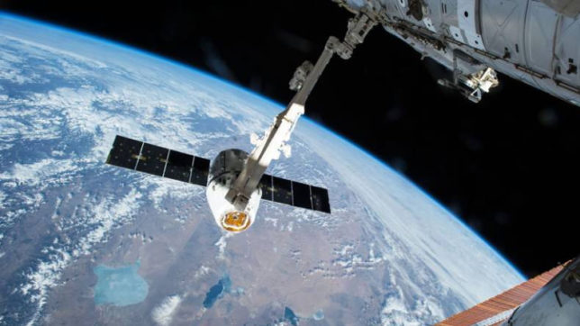 NASAs cargo spacecraft back down to earth with heavy payload