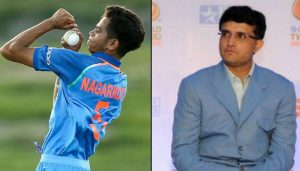 Ganguly finds future Indian pacers in Nagarkoti, Mavi and Porel