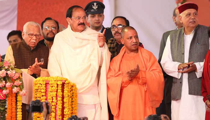 UP Diwas: Confiscate arms to curb rise in crime, says Venkaiah