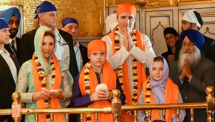Canadian PM Justin Trudeau visits Golden Temple in Amritsar