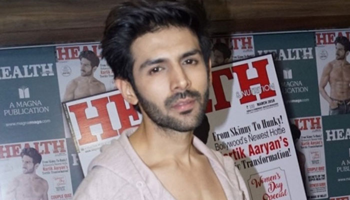 Kartik Aaryan shows some heartthrob looks during a cover launch