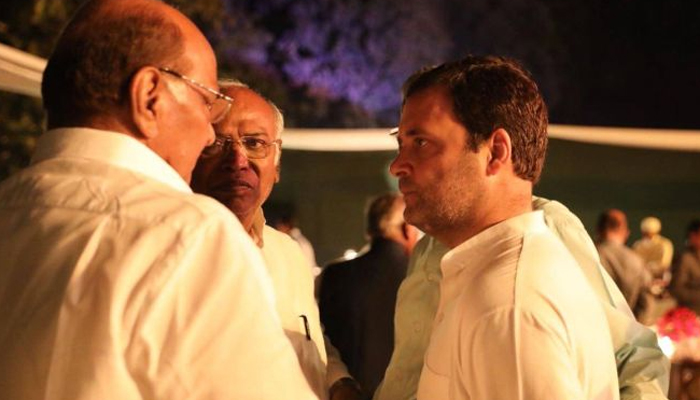 Rahul Gandhi meets Sharad Pawar after bypoll results