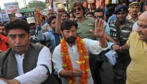 Kathua rape and murder: Lal Singh leads march for CBI probe
