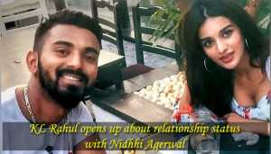 KL Rahul opens up about relationship rumours with Nidhhi Agerwal