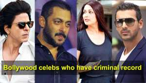 Ten Bollywood celebrities who have criminal record