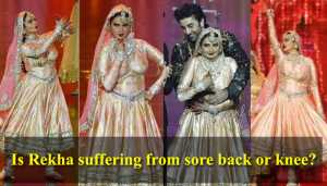 IIFA 2018: Is Rekha suffering from a sore back or knee?