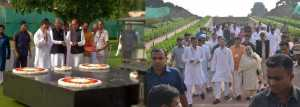 Rahul reaches Rajghat, participates in protest against fuel price hike